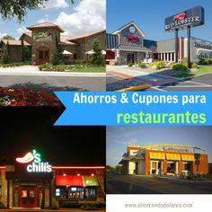 Cupones y ahorros para visitar restaurantes