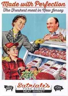 The Sopranos - Retro advert for Satriale's Pork Store #GangsterFlick
