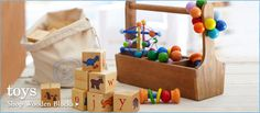 Wooden Toys - Love the wooden blocks from PBK - #projectnursery #franklinandben #nursery