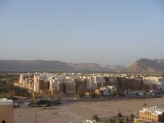 The mud skyscrapers of Shibam in Yemen. Mazrooq has a similar city.