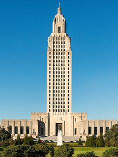 Louisiana State Capitol building in Baton Rouge.