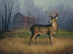 Fall Deer And Farm Scene Wallpaper Border Farm Scene Landscapes Ll50221b Fall Deer And Farm Scene
