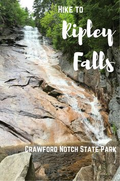 Ripley Falls waterfall hike in Crawford State Notch. Easy white mountains hike, great for families, kids, and beginners. Kayaking Near Me, Kayaking Tips, Kayak Adventures, Outdoor Adventures, Hiking Essentials, Waterfall Hikes, Kayak Camping, Camping Tips, White Mountains