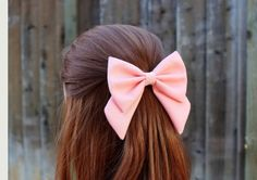 Pretty in Pink School Girl Bow