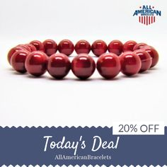 Today Only! 20% OFF this item.  Like us on Facebook to be the first to see our exciting Daily Deals. Today's Product: American Pride Bracelet Red Patriotic Bracelet Red Coral American Patriotic Bracelet Handmade in USA Red Coral Bracelet  Red Coral Jewelry Buy now: http://ift.tt/2otXGoz #etsy #etsyseller #etsyshop #etsylove #etsyfinds #etsygifts #musthave #loveit #instacool #shop #shopping #onlineshopping #instashop #instagood #instafollow #photooftheday #picoftheday #love #OTstores…