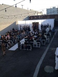 100 Person Ceremony On The Patio At Lot 613