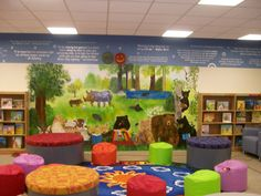 elementary school library decorations | snapshot from the upper
