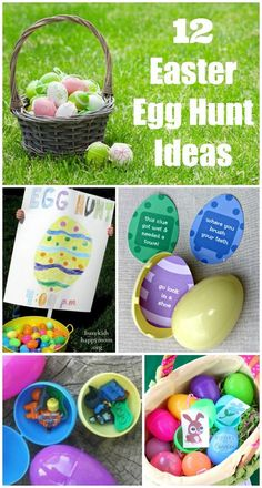 12 Easter Egg Hunt Ideas - how to plan an egg hunt, what to put in eggs & free Easter printables too!