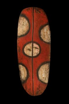 Mendi shield from the Southern Highlands of Papua New Guinea. Age unknown. via Tribal Art Collection