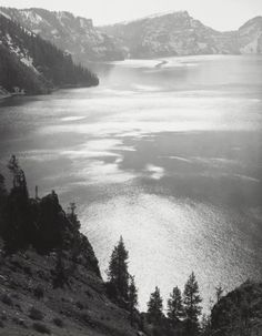 Ꭿηʂҽℓ Ꭿɖąɱʂ ~ Afternoon Sun, Crater Lake National Park 1943 by Ansel Adams