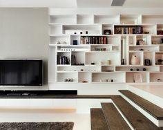 I've always wanted 1. tetris shelves and 2. sunken living room.