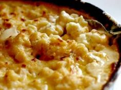 Simple, Easy Baked Mac and Cheese - no need to cook the pasta first. Milk, chicken broth, and cream cheese.