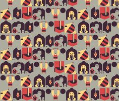 The Sideshow fabric by aperiodic on Spoonflower - custom fabric