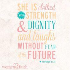 Mujer Virtuosa Proverbios 31.25