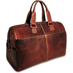 Jack Georges Voyager Collection #7318 Cabin Bag is made from hand-stained vegetable re-tanned buffalo leather. It easily serves as a day bag or a carry-on bag that will hold your essentials for a short trip.