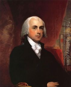 James Madison by Gilbert Stuart...Fourth President of the United States.