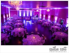 A stunning purple and white reception at The Hamilton Manor