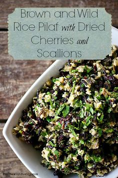 Brown and Wild Rice Pilaf with Dried Cherries #SideDish | Foodie with Family (Vegan Wraps Rice)