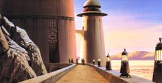 Ralph McQuarrie - Star Wars - ROTJ: This Ralph McQuarrie concept painting shows...