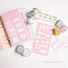 Exclusive design washi tapes planner stencils and cute mini planner clips! They are now available on my webshop! Link in bio!  Happy Friyay!! by lovecynthia