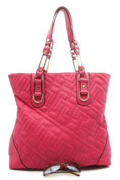 Designer Inspired Ramya Tote - Fuschia on amazon today for just $29.99 - ON SALE 33% off list price & eligible for FREE Super Saver Shipping