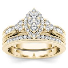 Shop for De Couer IGI Certified White Gold TDW Diamond Marquise-framed Halo Engagement Ring Set. Get free delivery On EVERYTHING* Overstock - Your Online Jewelry Destination! Get in rewards with Club O! Rose Gold Engagement Ring, Engagement Ring Settings, Diamond Wedding Bands, Diamond Rings, Bridal Ring Sets, Bridal Rings, Wedding Rings, Gold Wedding, Bridal Jewelry