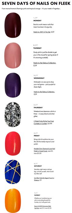 Nails for Days. 7 daily nail design ideas from @ASOS http://asos.do/RMqnzQ // Love it!