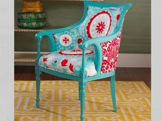 I love the colors of this chair.