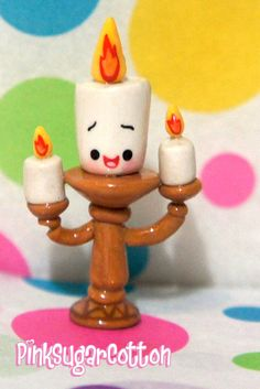 Candle from Beauty and the Beast in kawaii form- charm
