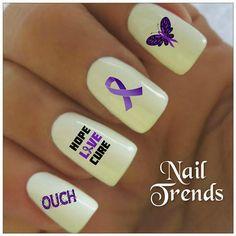 Nail Decals. Lupus Awareness 20 Vinyl Stickers Nail Art / fibro awareness / chronic illness