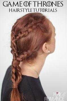Game of Thrones Hairstyles – Khaleesi braids hairstyle tutorial