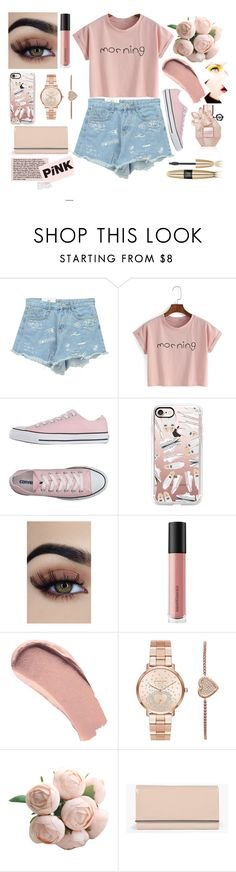 """""""Pink Lemonade"""" by galaxy-moon-stars ❤ liked on Polyvore featuring Chicnova Fashion, Converse, Casetify, Bare Escentuals, Burberry, Michael Kors, Boohoo and Victoria's Secret"""