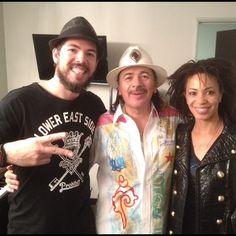 Carlos Santana with Salvador and Cindy in Hollywood
