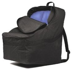 This car seat travel bag let's you lug that big thing in the airport while freeing up your hands to hold, oh you know, everything else you have to carry through the airport. Brilliant protection for travel!