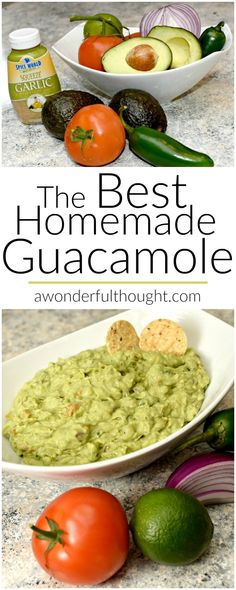 Check out this easy recipe to make the best homemade guacamole. We make it all the time. It is so good even my kids love it!