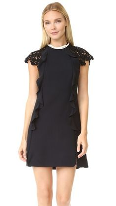Giambattista Valli Lace Sleeve Dress