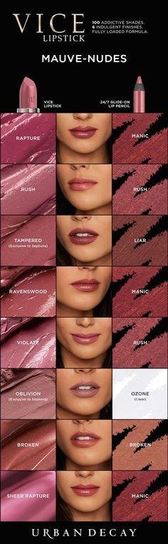 Vice Lipstick: Mauve-Nudes
