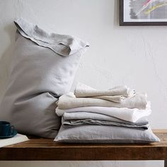 7 best places to buy pure linen bedding - Belgian Flax bed linen, for set of two pillowcases, West Elm Linen Bed Sheets, Cheap Bed Sheets, Bed Linen Sets, Linen Bedding, Bed Linens, Bed Sets, Grey Bedding, Modern Bedding, Bedding Sets Online