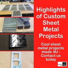 Get your metal part custom made in the size and the shape you need. Choose from #Aluminum #Stainless and #Steel #sheetmetal for your #DIY project via www.metalscut4u.com
