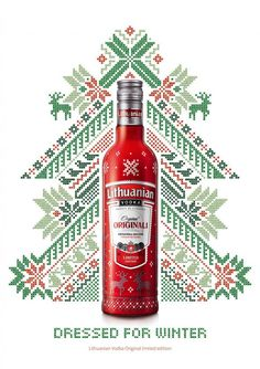 Dressed for Winter. Lithuanian Vodka Original Limited Edition Ad by Adell Taivas Ogilvy