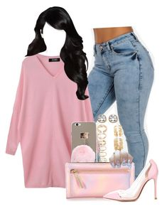 """""""Untitled #1661"""" by melaninprincess-16 ❤ liked on Polyvore featuring Forever 21, Kate Spade, Gianvito Rossi and Palm Beach Jewelry"""