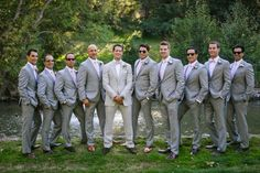 This Meadowood wedding combined shades of blush, cream and gray and lots of roses to create an intimate, romantic atmosphere within the woods. Black Suit Wedding, Blue Wedding, Fall Wedding, Wedding Colors, Dream Wedding, Wedding Groom, Wedding Suits, Chambelanes, Groom And Groomsmen Suits