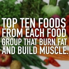 Anywhere Fitness PT : Top 10 Foods From Each Food Group That Burn Fat & Build Muscle www.anywherefitnesspt.com