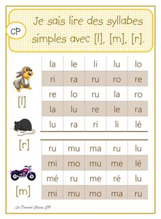 Lire des syllabes simples - Here's a List of Education Companies Offering Free Subscriptions to . Learning To Write, Early Learning, Kids Learning, Learning People, Learning Resources, French Flashcards, French Worksheets, Art Education Lessons, Education And Literacy
