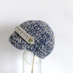 Baby Boy Newsboy Hat Newborn Hat Baby Crochet Hat by recyclingroom, $18.00