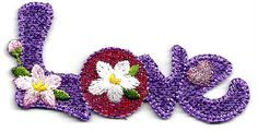 LOVE TEXT ~ PURPLE ~ EMBROIDERED IRON ON APPLIQUE #Unbranded Love Text, Body Soap, Iron On Applique, Iron On Patches, Bag Accessories, Purses And Bags, Valentines Day, Crochet Earrings, Handmade Items