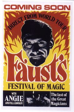 Vintage Magician Poster