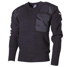 warmer BW Pullover, schwarz für kalte Herbstage / mehr Infos auf: www.Guntia-Militaria-Shop.de