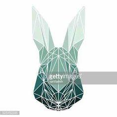 Geometric rabbit head
