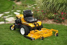 Save a lawn; ride a walker. A walker mower, that is. Ride it on the lawn.